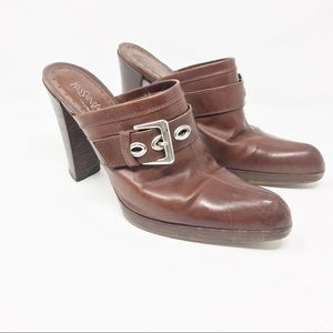 YSL yves SAINT LAURENT clogs mules 39